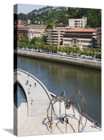 Giant Spider Sculpture by Louise Bourgeois, Nervion River, Bilbao, Basque Country, Spain, Europe-Christian Kober-Stretched Canvas Print