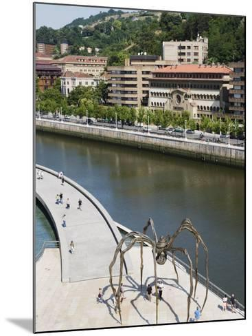 Giant Spider Sculpture by Louise Bourgeois, Nervion River, Bilbao, Basque Country, Spain, Europe-Christian Kober-Mounted Photographic Print