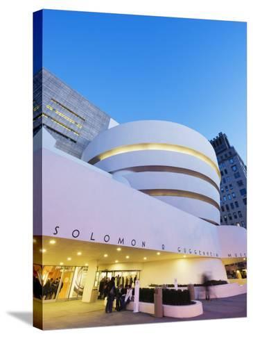 Solomon R. Guggenheim Museum, Built in 1959, Designed by Frank Lloyd Wright, Manhattan-Christian Kober-Stretched Canvas Print