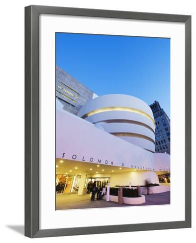 Solomon R. Guggenheim Museum, Built in 1959, Designed by Frank Lloyd Wright, Manhattan-Christian Kober-Framed Art Print
