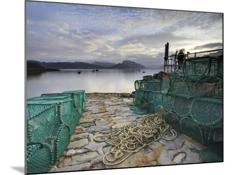 View Out to Sea from Stone Slipway at Dawn, with Lobster Pots and Ropes in Foreground, Plokton-Lee Frost-Mounted Photographic Print