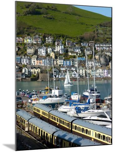 Train, Dartmouth Harbour, Devon, England, United Kingdom, Europe-Charles Bowman-Mounted Photographic Print