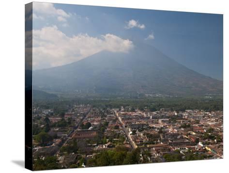 View of Antigua and Volcan De Agua, Guatemala, Central America-Sergio Pitamitz-Stretched Canvas Print