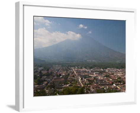 View of Antigua and Volcan De Agua, Guatemala, Central America-Sergio Pitamitz-Framed Art Print