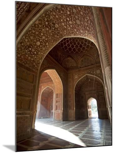 Interior of Red Sandstone Mosque at the Taj Mahal, Agra, Uttar Pradesh-Annie Owen-Mounted Photographic Print