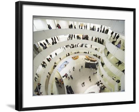 Iinterior of Solomon R Guggenheim Museum, 1959, Designed by Frank Lloyd Wright, Manhattan-Christian Kober-Framed Art Print
