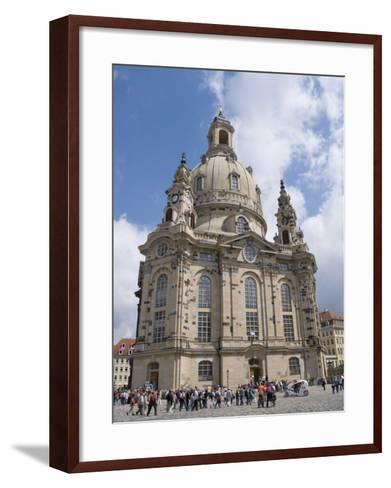 Frauenkirche, Dresden, Saxony, Germany, Europe-Robert Harding-Framed Art Print