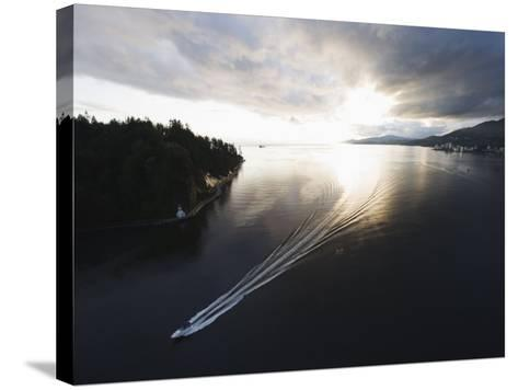 Speed Boat in Burrard Inlet, Vancouver, British Columbia, Canada, North America-Christian Kober-Stretched Canvas Print