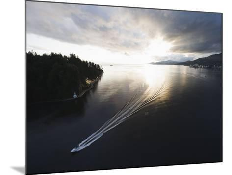 Speed Boat in Burrard Inlet, Vancouver, British Columbia, Canada, North America-Christian Kober-Mounted Photographic Print