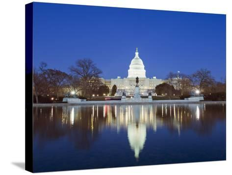 The Capitol Building, Capitol Hill, Washington D.C., United States of America, North America-Christian Kober-Stretched Canvas Print
