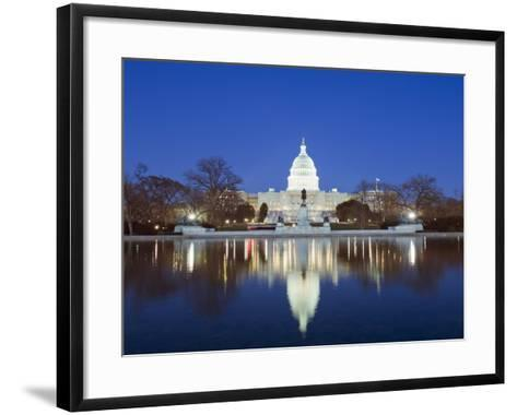 The Capitol Building, Capitol Hill, Washington D.C., United States of America, North America-Christian Kober-Framed Art Print