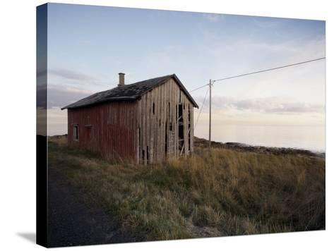 Weathered Barn on Coast, Lofoten Islands, Norway, Scandinavia, Europe-Purcell-Holmes-Stretched Canvas Print