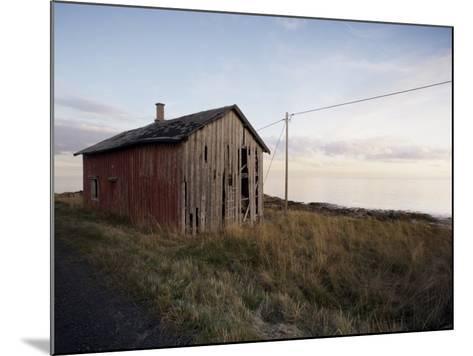 Weathered Barn on Coast, Lofoten Islands, Norway, Scandinavia, Europe-Purcell-Holmes-Mounted Photographic Print