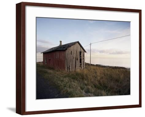 Weathered Barn on Coast, Lofoten Islands, Norway, Scandinavia, Europe-Purcell-Holmes-Framed Art Print