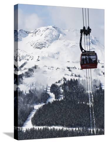 Whistler Blackcomb Peak 2 Peak Gondola, Whistler Mountain, 2010 Winter Olympic Games Venue-Christian Kober-Stretched Canvas Print