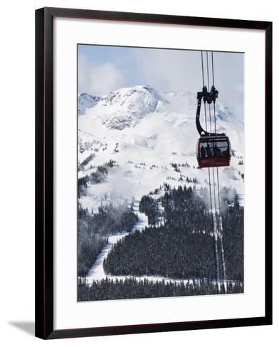 Whistler Blackcomb Peak 2 Peak Gondola, Whistler Mountain, 2010 Winter Olympic Games Venue-Christian Kober-Framed Art Print