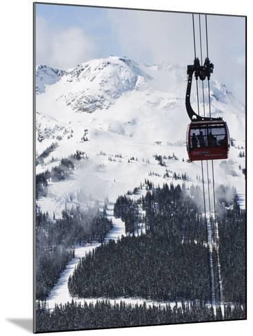 Whistler Blackcomb Peak 2 Peak Gondola, Whistler Mountain, 2010 Winter Olympic Games Venue-Christian Kober-Mounted Photographic Print