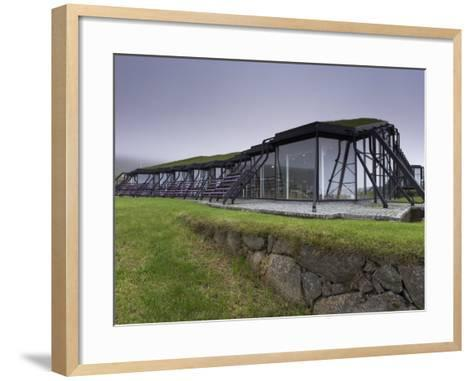 Nordic House, Exteriors and Turf Covered Roof, Torshavn, Streymoy-Patrick Dieudonne-Framed Art Print