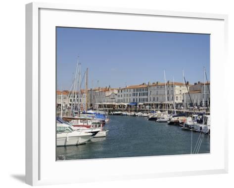 Harbour and Quayside, St. Martin-De-Re, Ile De Re Charente-Maritime, France, Europe-Peter Richardson-Framed Art Print