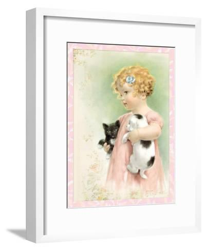 Friendly Enemies-Bessie Pease Gutmann-Framed Art Print