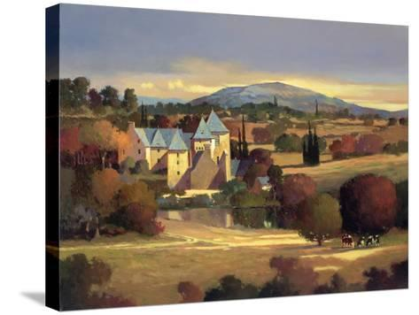 Lazy Evening, St. Genies-Max Hayslette-Stretched Canvas Print