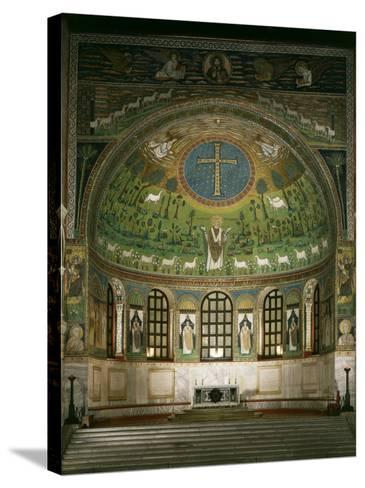 Christ and Cross with Prophets Moses, Elias and Saint Apollinare, Sant Apollinare Basilica, Italy--Stretched Canvas Print