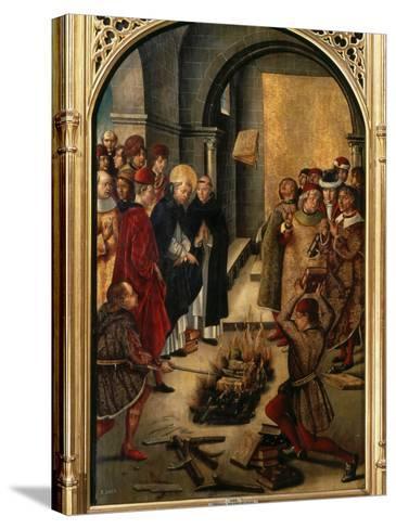 Saint Dominic or Domingo Guzman of Castile, 1170-1221 Founded Dominican Order-Pedro Berruguete-Stretched Canvas Print