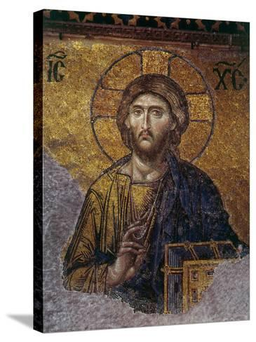 Head of Christ, Mosaic from Apse at Haghia Sophia Istanbul, 12th century AD--Stretched Canvas Print