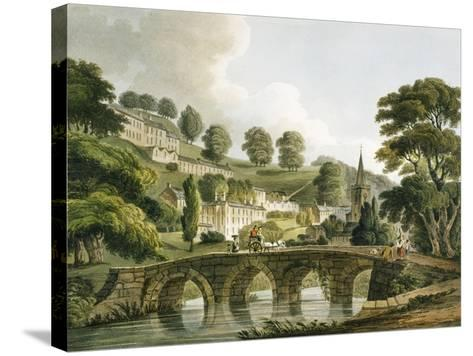 Bradford Old Bridge, Print Series, 1806-John Claude Nattes-Stretched Canvas Print