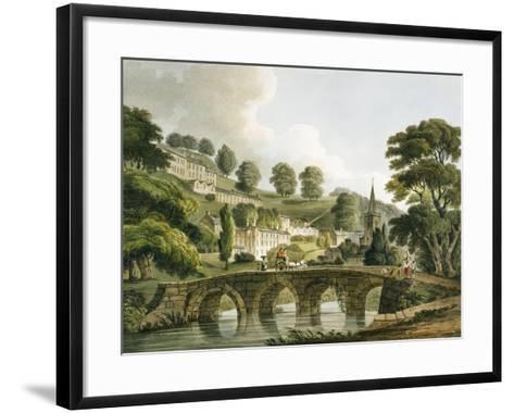 Bradford Old Bridge, Print Series, 1806-John Claude Nattes-Framed Art Print