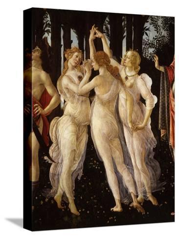 La Primavera (Spring) Detail of Three Graces, c.1475-Sandro Botticelli-Stretched Canvas Print