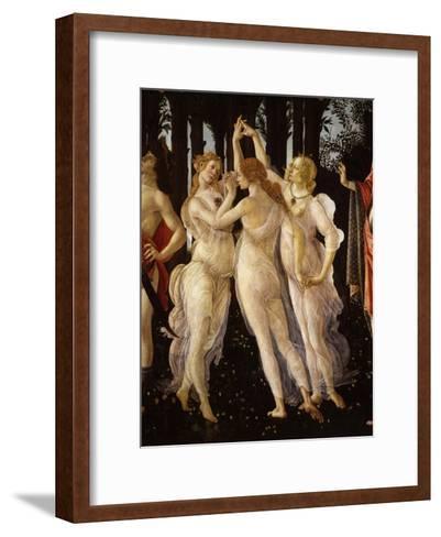 La Primavera (Spring) Detail of Three Graces, c.1475-Sandro Botticelli-Framed Art Print
