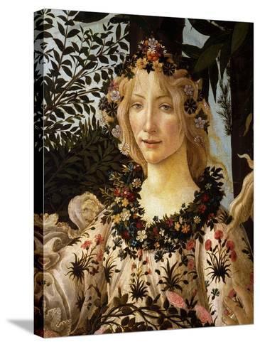 La Primavera, Spring, Detail of Spring, Flora, c.1475-Sandro Botticelli-Stretched Canvas Print