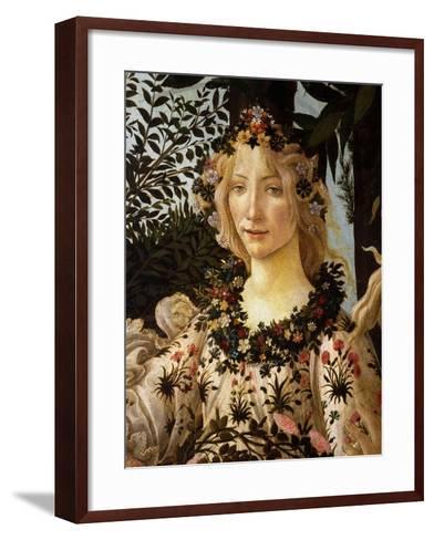La Primavera, Spring, Detail of Spring, Flora, c.1475-Sandro Botticelli-Framed Art Print