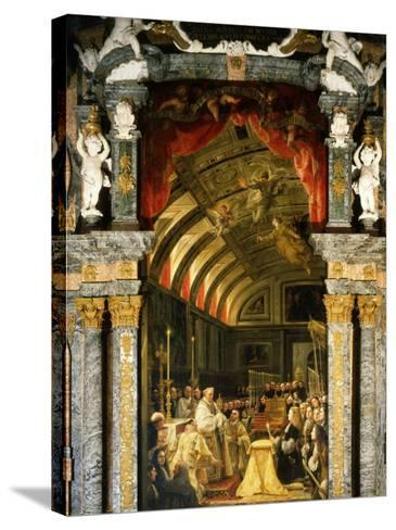 Holy Communion of Charles II, 1661-1700, King of Spain-Claudio Coello-Stretched Canvas Print