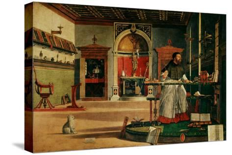 Saint Jerome (341-420) in his Study-Vittore Carpaccio-Stretched Canvas Print
