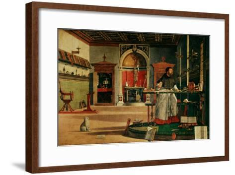 Saint Jerome (341-420) in his Study-Vittore Carpaccio-Framed Art Print