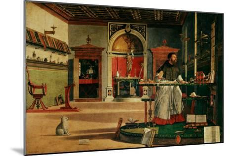Saint Jerome (341-420) in his Study-Vittore Carpaccio-Mounted Giclee Print