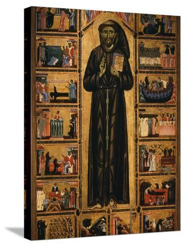 Altarpiece with Life of Saint Francis of Assisi-Tuscan School-Stretched Canvas Print