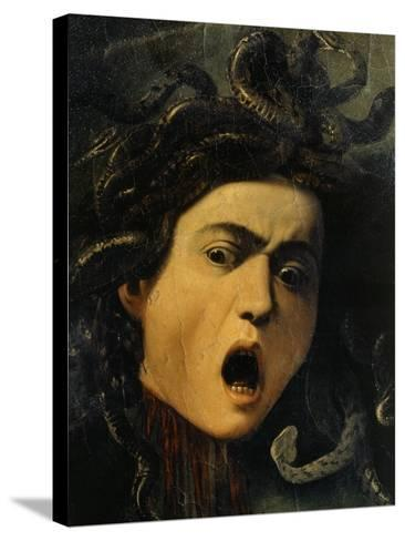 Medusa, Detail, 1598-9-Caravaggio-Stretched Canvas Print