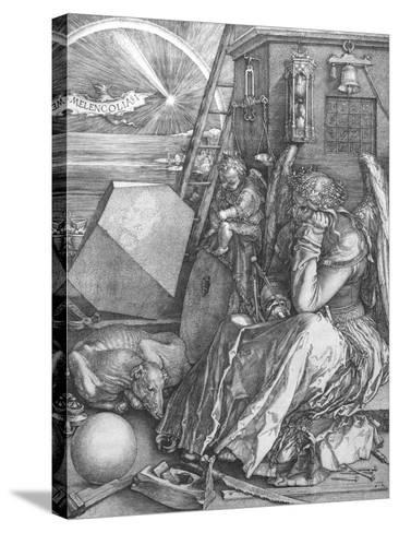 Melancolia, engraving, 1514-Albrecht D?rer-Stretched Canvas Print
