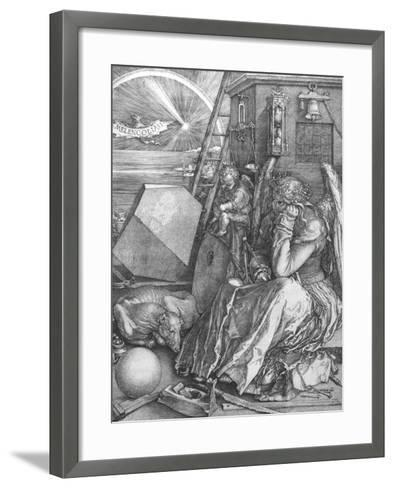 Melancolia, engraving, 1514-Albrecht D?rer-Framed Art Print