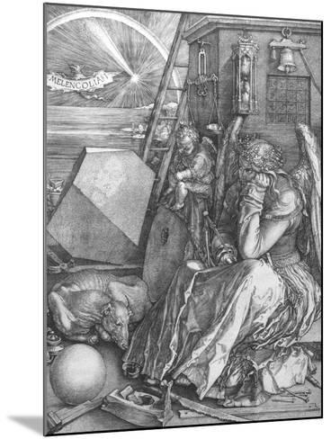Melancolia, engraving, 1514-Albrecht D?rer-Mounted Giclee Print