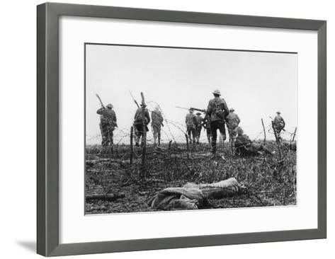 First day of Battle of the Somme July 1st 1916--Framed Art Print