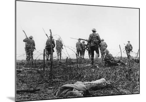 First day of Battle of the Somme July 1st 1916--Mounted Giclee Print