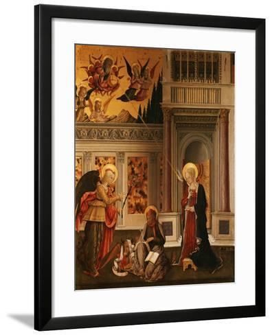Annunciation, with Saint Luke the Evangelist-Benedetto Bonfigli-Framed Art Print