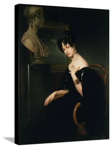 Countess Cristina Barbiano de Belgioioso-Francesco Hayez-Stretched Canvas Print