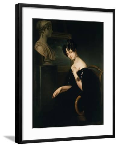 Countess Cristina Barbiano de Belgioioso-Francesco Hayez-Framed Art Print