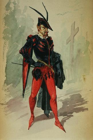 Costume Design by G. Palanti for the Opera Mephistopheles by Arrigo Boito-Giuseppe Palanti-Stretched Canvas Print