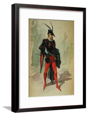 Costume Design by G. Palanti for the Opera Mephistopheles by Arrigo Boito-Giuseppe Palanti-Framed Art Print